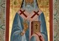 Икона свт. Василия Кинешемского с частицей мощей
