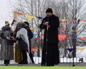 В монастыре для жителей села провели масленицу